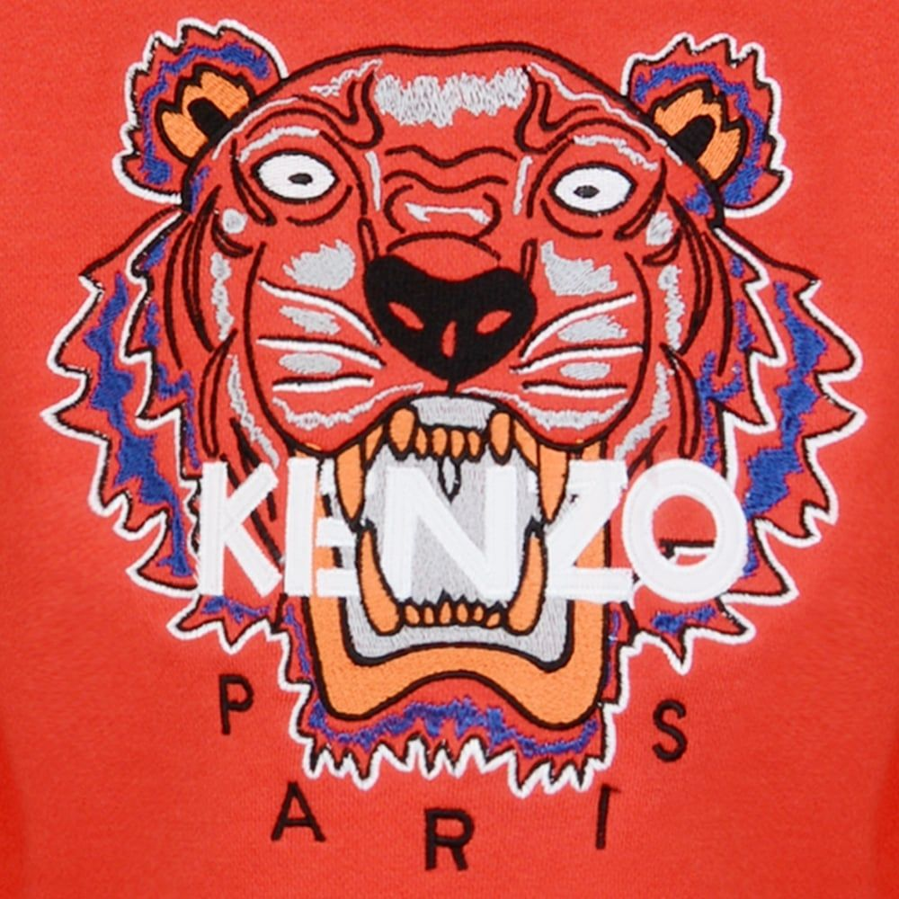Kenzo Logo - Kenzo Kids Tiger Logo Sweatshirt | Chocolate Clothing
