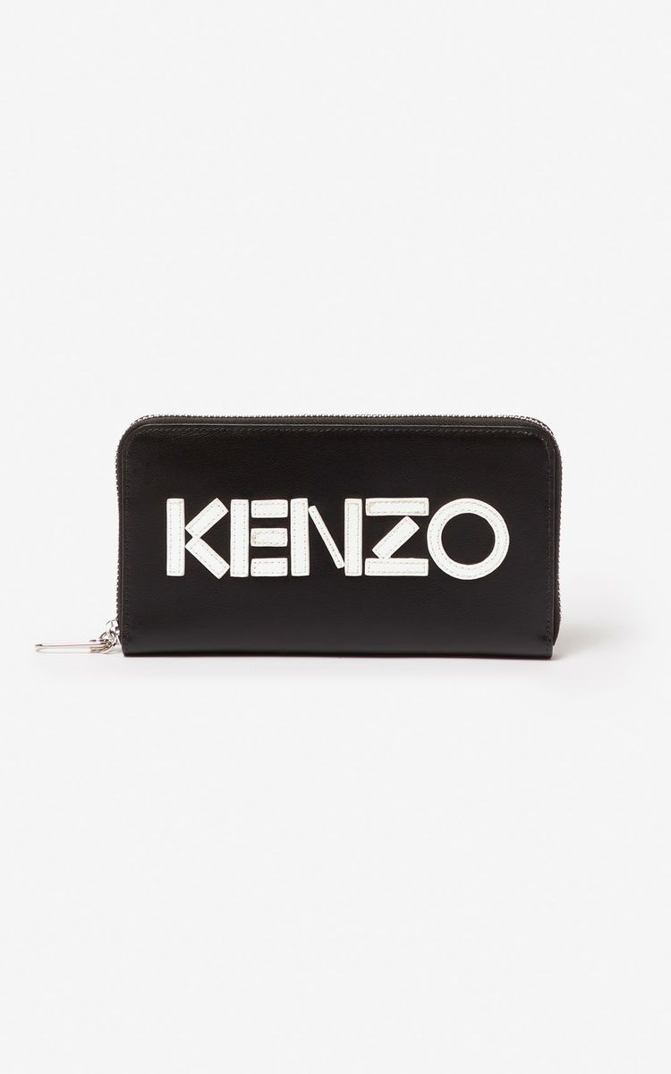 Kenzo Logo - KENZO logo leather wallet for ACCESSORIES Kenzo | Kenzo.com