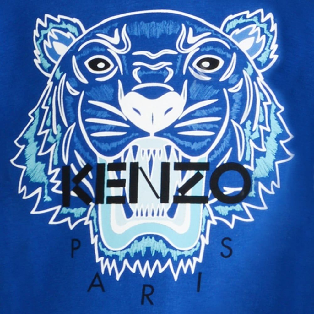 Kenzo Logo - Kenzo Kids Boys Blue Tiger Logo T-Shirt | Chocolate Clothing