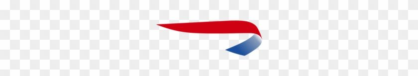 Airline with Red and Blue Ribbon Logo - LogoDix