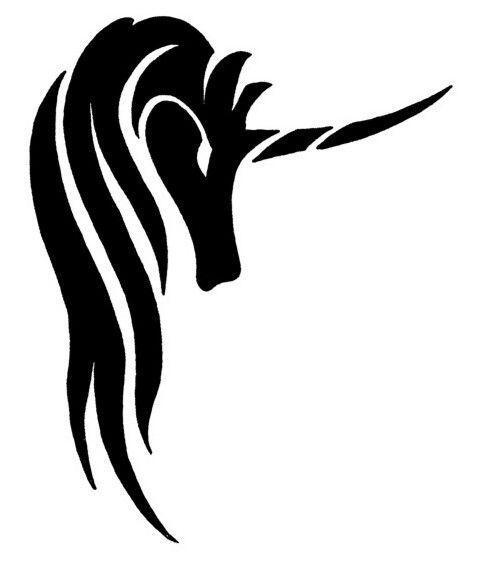 Unicorn Black and White Logo - LogoDix