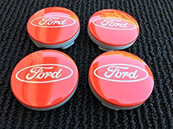 Red and Silver S Car Logo - 4x Ford 54mm RED Silver Logo Alloy Wheels Hub Centre Caps Fits Most ...