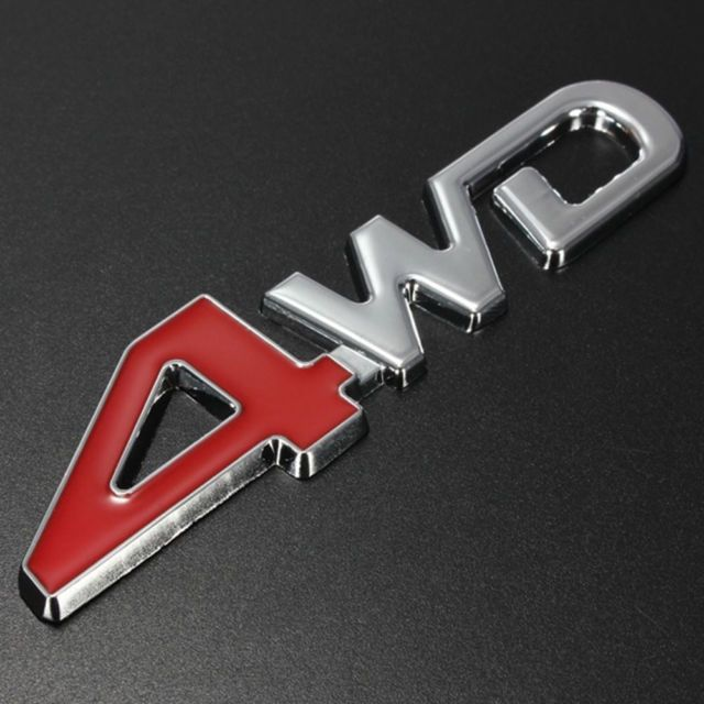 Red and Silver S Car Logo - 4wd Silver Chrome 3d Emblem Badge 4x4 Four Wheel Drive Car Sticker ...