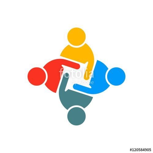 Business Communication Logo - People Group Teamwork Logo. Vector graphic design illustration ...