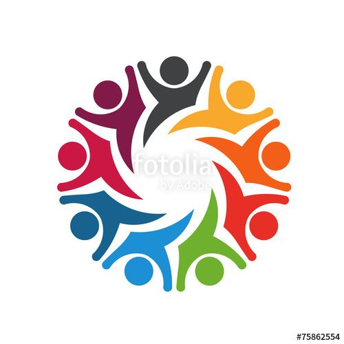 "Business Communication Logo - Happy Team group people 8 image logo"" #business #communication ..."