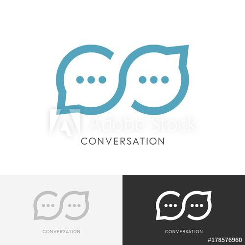 Business Communication Logo - Infinity conversation logo - endless chat or good talk symbol ...