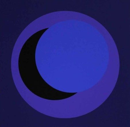 Dark Blue Circle Logo - Geneviève Claisse - Dark Blue Circle - Catawiki
