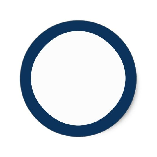 Dark Blue Circle Logo - Dark blue solid colour border blank classic round sticker | Zazzle.co.uk