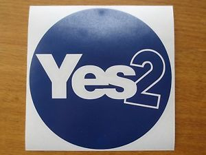 Dark Blue Circle Logo - Vote Yes Dark Blue Circle Scottish Independence Vinyl Sticker ...