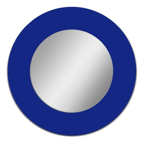 Dark Blue Circle Logo - Frame Mounted Mirror - CIRCLE | Glossy Gallery