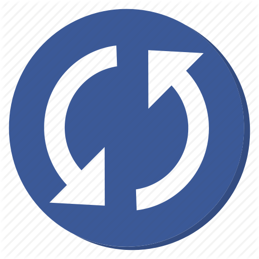 Dark Blue Circle Logo - Circle, cycle, darkblue, reload, sync, update icon