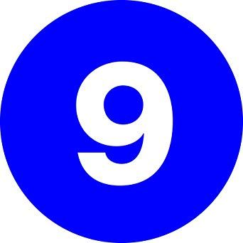 Dark Blue Circle Logo - Tape Logic DL6759 Number Circle Label, Legend