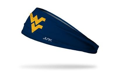 West Virginia University Logo - West Virginia University: Logo Navy Headband – JUNK Brands