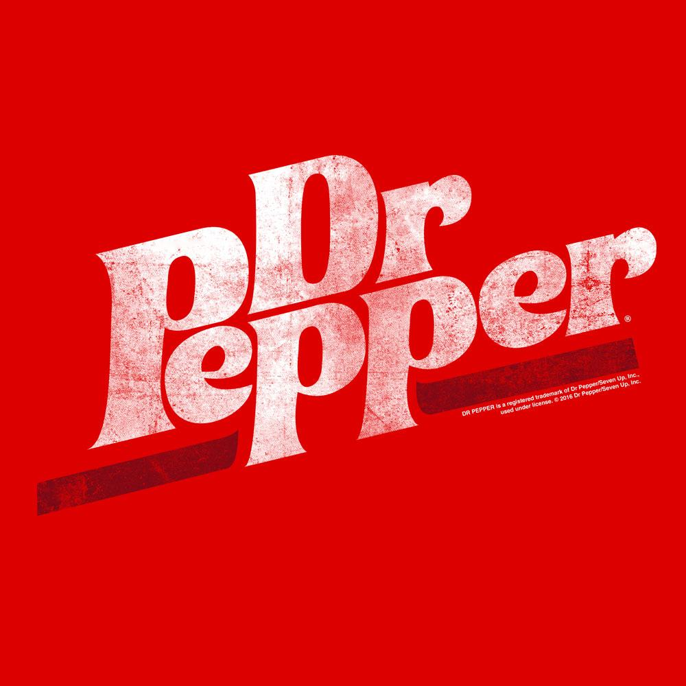 Dr Pepper Logo - Dr Pepper Distressed Logo Soft Touch Hoodie – Tee Luv