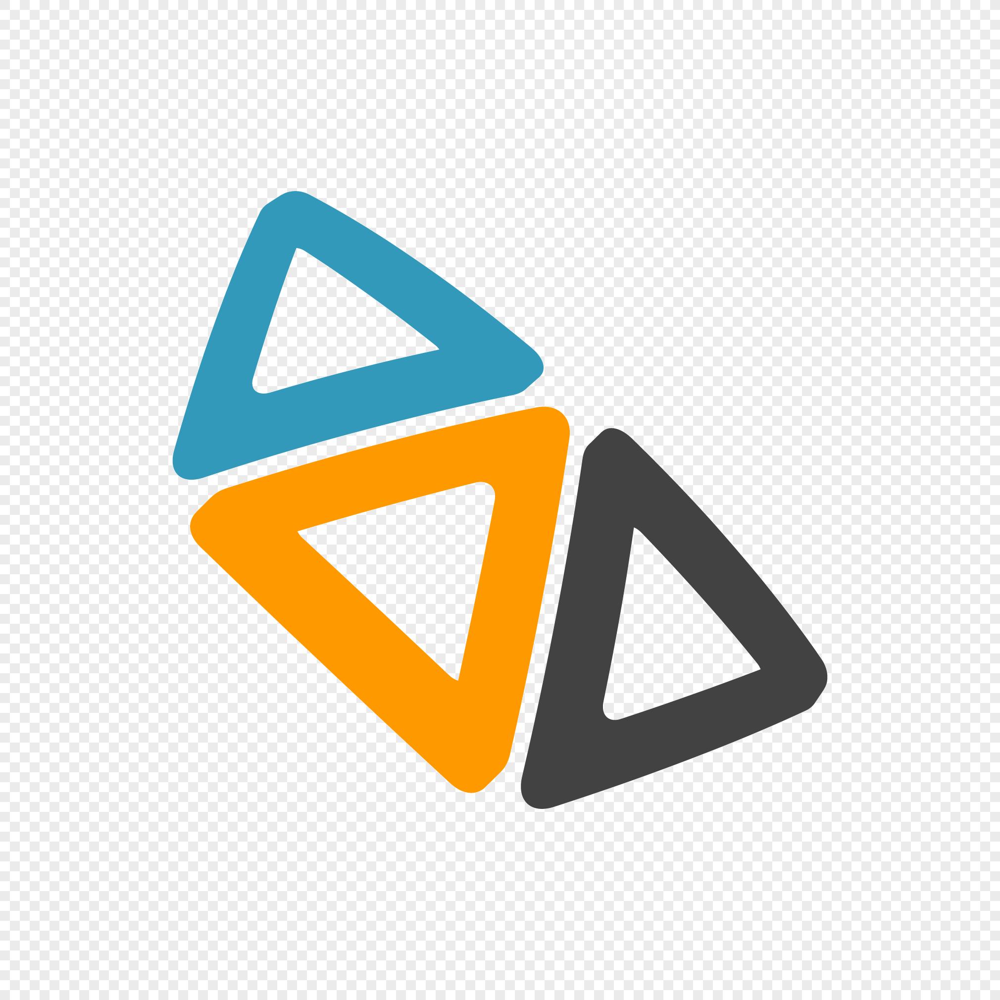 Tricolor Triangle Logo Logodix