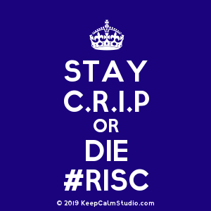 Crip Crown Logo - Stay C.r.i.p Or Die #risc' design on t-shirt, poster, mug and many ...