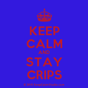Crip Crown Logo - Keep Calm and Stay Crips' design on t-shirt, poster, mug and many ...